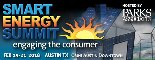 Parks Associates is holding their annual Smart Energy Summit in February.
