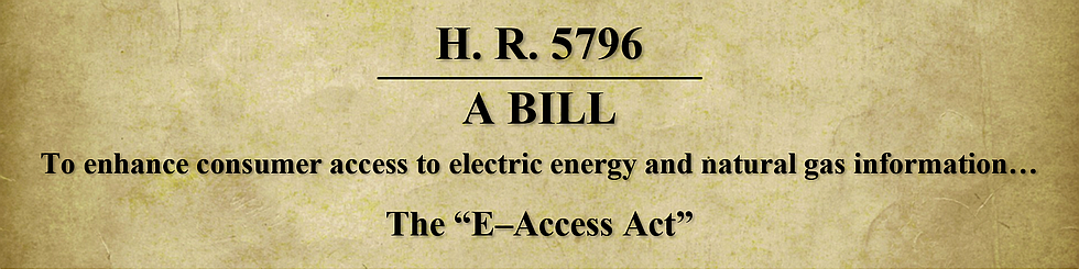 Read about the new U.S. Congressional proposal for energy-data access...