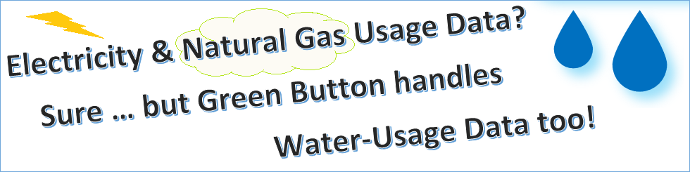 The Green Button handles water-usage data too.